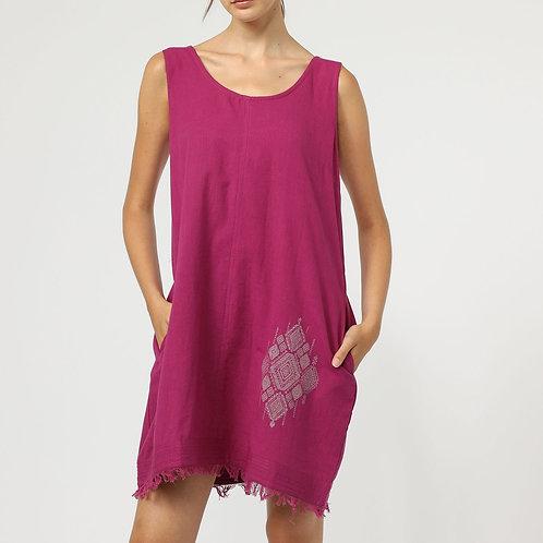 petite robe courte 100 % coton-LE04