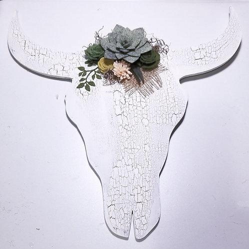 Folk Art Cow Skull Wall Decor