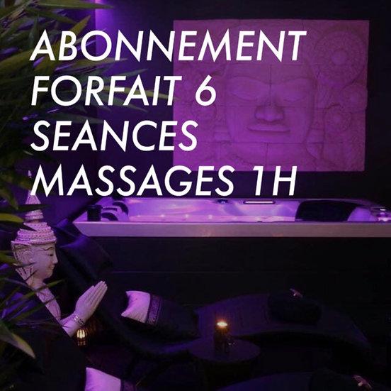 ABONNEMENT FORFAIT 6 SEANCES MASSAGE 1H