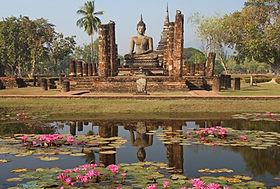 Rituel balade à Sukhothai