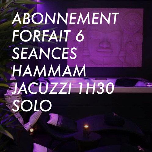 ABONNEMENT FORFAIT 6 SEANCES HAMMAM JACUZZI 1H30
