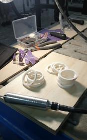 Sanding PVC pieces
