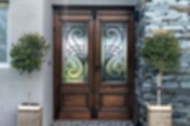 Refinished wood doors in Savannah, GA and Bluffton, SC
