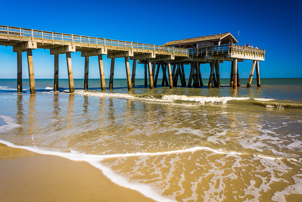 Tybee Island Pier, Tybee Island Beach travel blog.