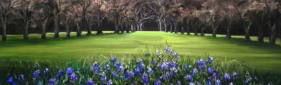 Blue Bonnets in Spring Painting