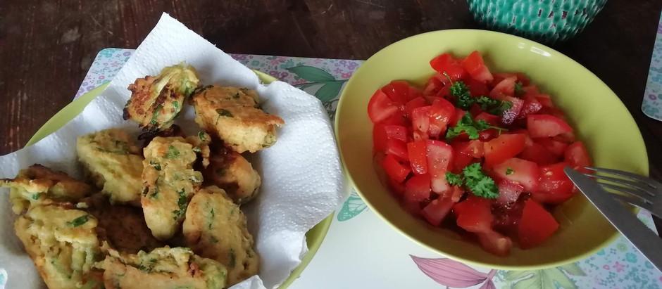 Beignets de fleurs de courgette sans gluten