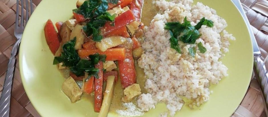 Carottes / Pommes de terre au Curry Coco
