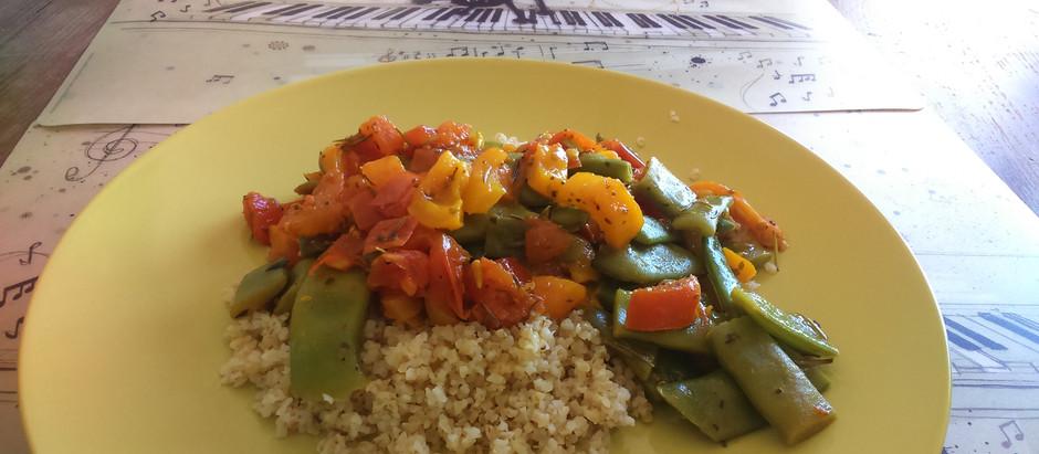 Curcuma de légumes au boulgour