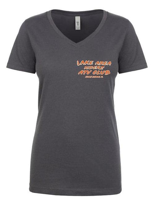 Ladies Cotton V-neck Tee