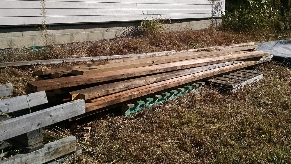 Reclaimed Lumber from a building demo