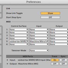 Maschine Mikro MK3 set up for Ableton Live (script)