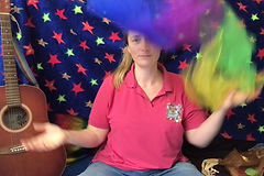 NEW! Songs with scarves - movement, sensory & imaginative play