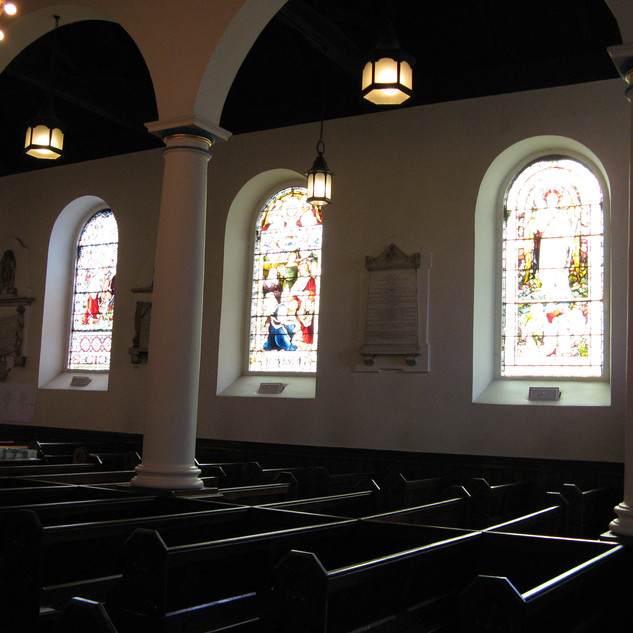 The view across Church to the beautiful windows
