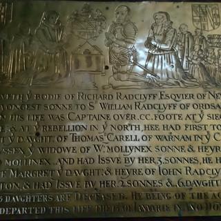 A memorial plaque to Richard Radcliffe