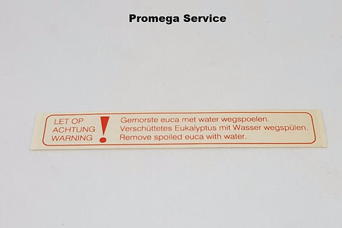 90610804 Sticker waarschuwing euca (stoom) Cleopatra Pharo