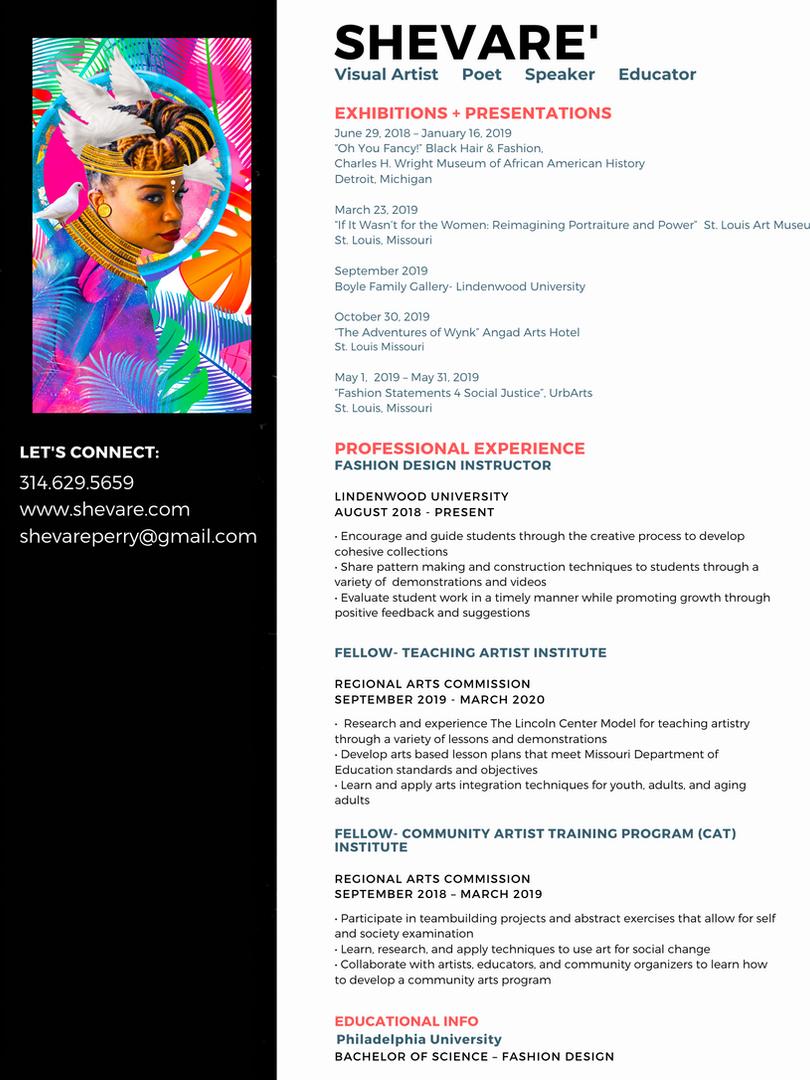 Shevare' Resume
