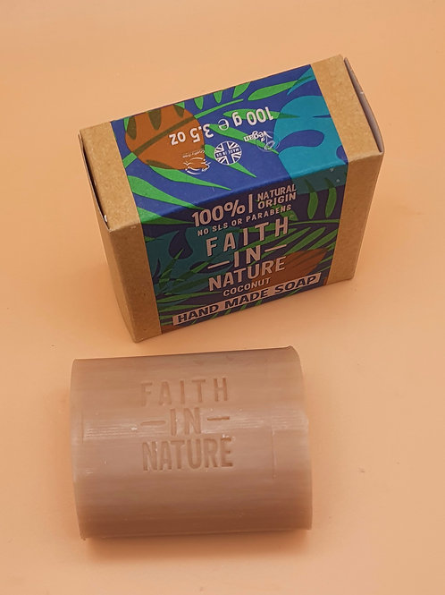 Coconut Natural Hand Made Soap, 100g - Faith in Nature