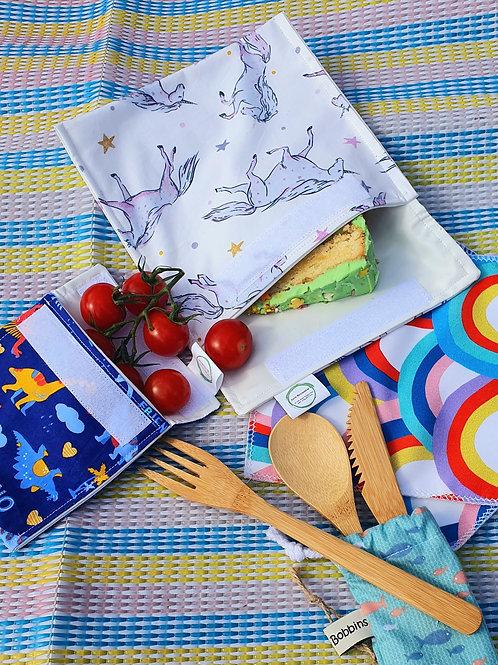 Large Unicorn Print Reusable Snack Bag - Love Reusable