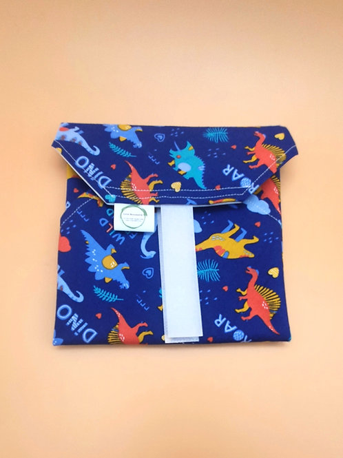 Blue Dinosaur Print Sandwich Wrap - Love Reusable