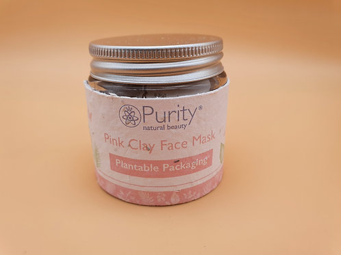 Pink Clay Face Mask -Purity Natural Beauty