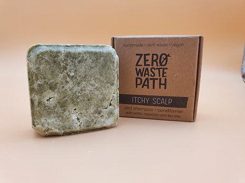 Itchy Scalp, 2-in-1 Shampoo & Conditioner 70g -Zero Waste Path