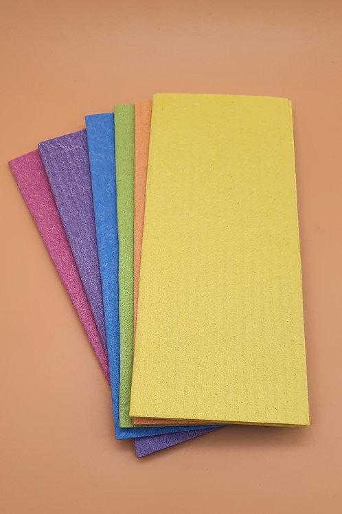 6 x Rainbow compostable sponge cloths - ecoLiving