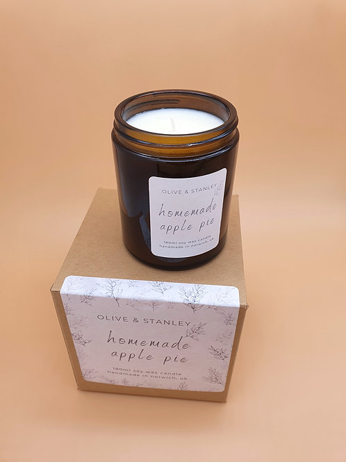 Homemade Apple Pie Scented Soy Wax Candle
