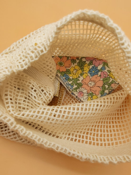 Small Organic Cotton Drawstring Wash Bag