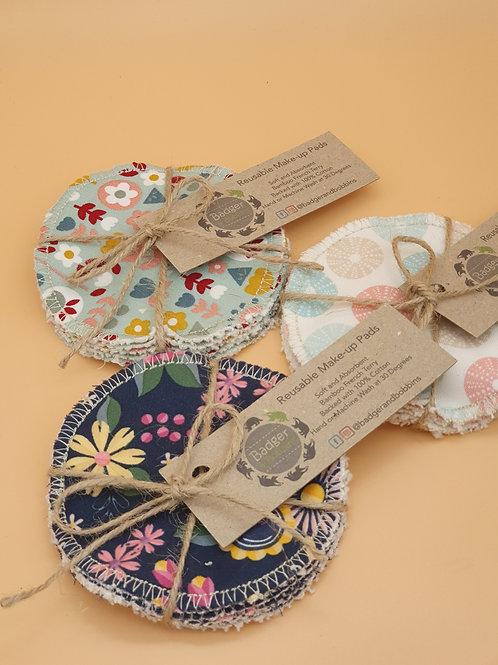 Handmade Reusuable Make Up Pads x 5  - Badger & Bobbins