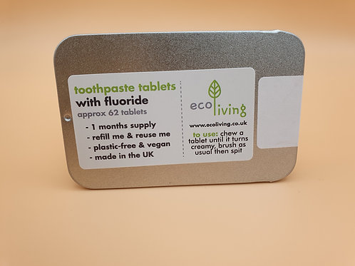 Toothpaste Tablets with Flouride - eco Living