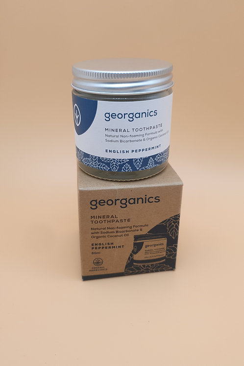 Small Natural Toothpaste English Peppermint, (60ml) - Georganics