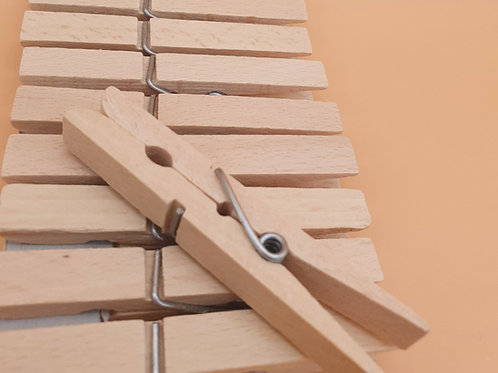 Pack of 20 Wooden Clothes Pegs
