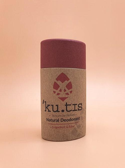 Grapefruit & Rose Natural Deodorant, 55g - Kutis Skincare