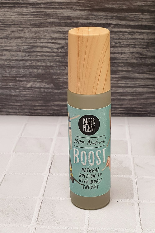 Boost Natural Pulse Point Roll On Roller Oil, Paper Plane