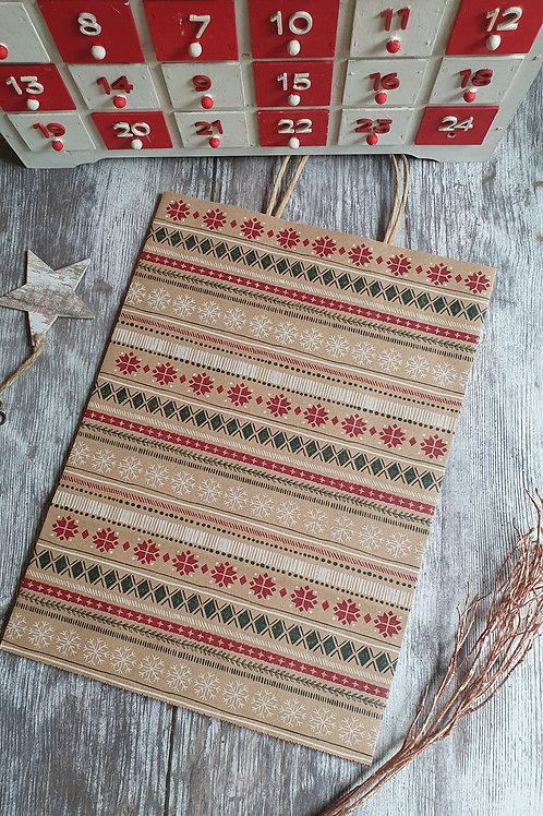 Large Seasonal Paper Gift Bags, Scandi theme