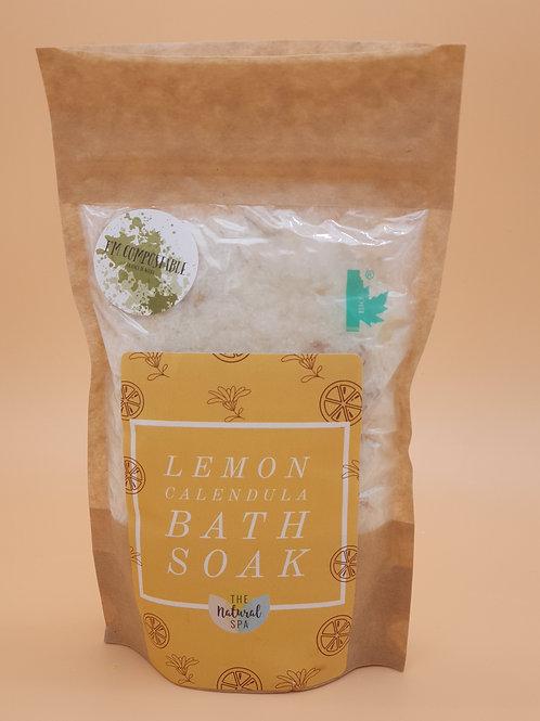 Lemon  Calendula Bath Soak, 225g -The Natural Spa