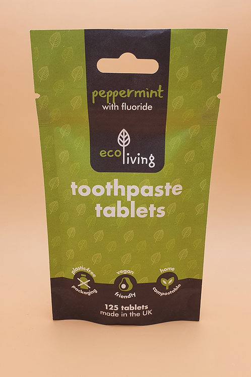 Refill bag of 124 Toothpaste Tablets with Flouride