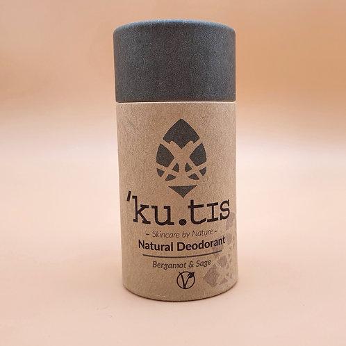 Bergamot & Sage Vegan Natural Deodorant, 55g - Kutis Skincare