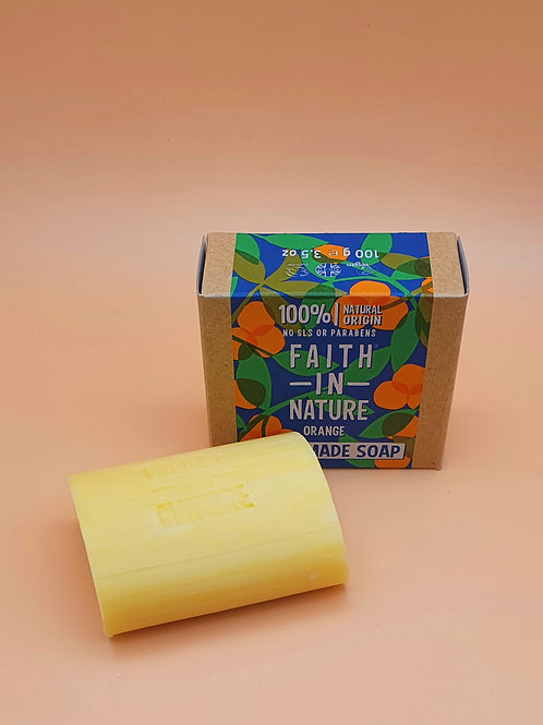 Orange Natural Hand Made Soap, 100g - Faith in Nature