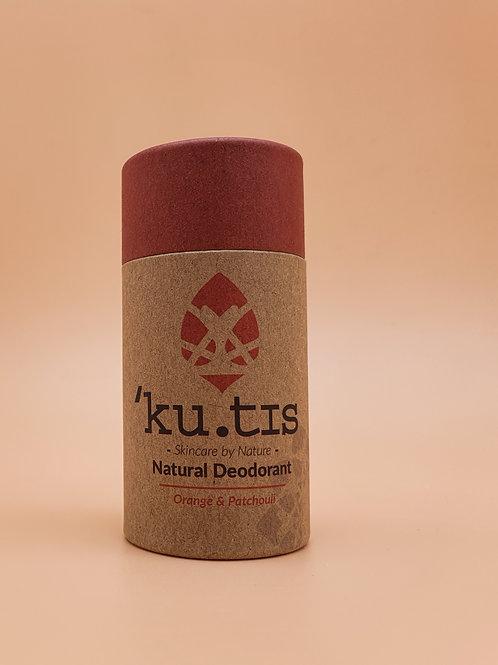 Orange & Patchouli Natural Deodorant, 55g - Kutis Skincare
