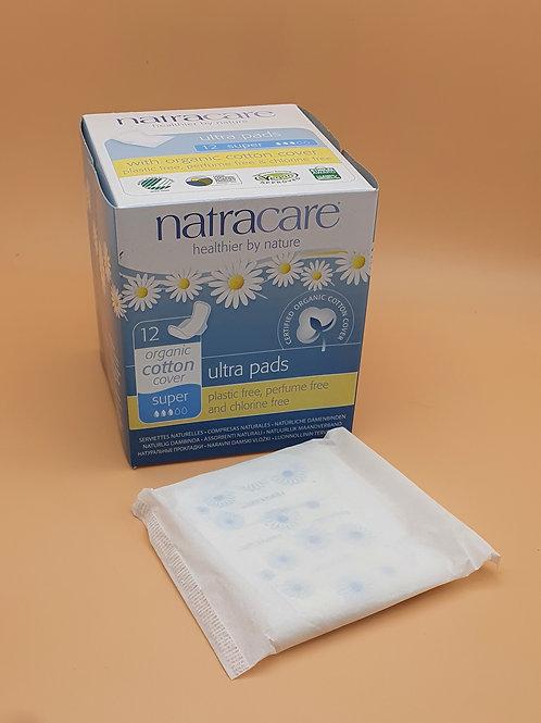 12 x Super Ultra Period Pads (medium) - Natracare