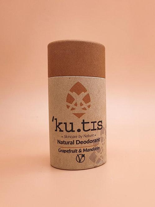 Grapefruit & Mandarin Vegan Natural Deodorant, 55g - Kutis Skincare
