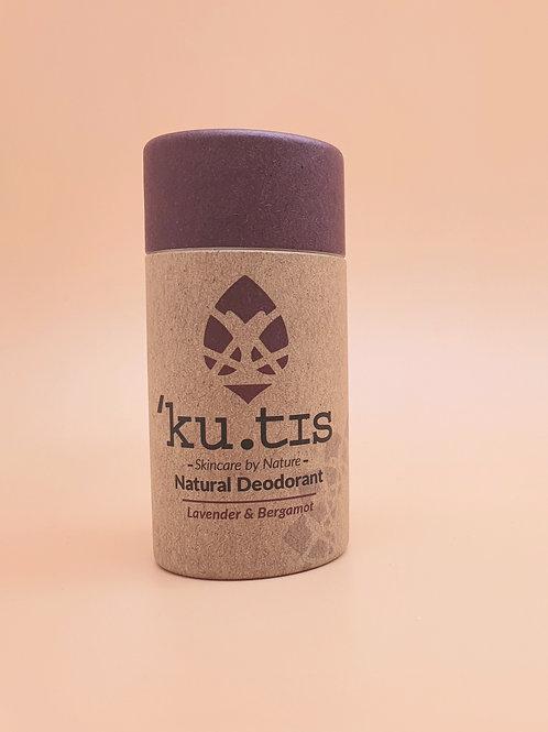 Lavender & Bergamot Natural Deodorant, 55g - Kutis Skincare