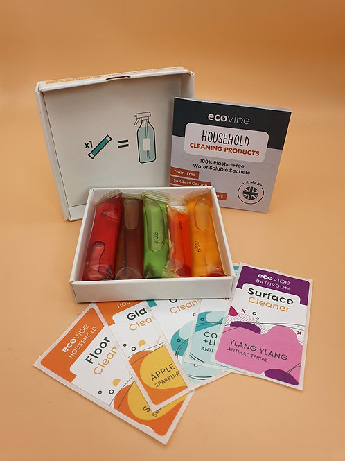 Plastic-Free Soluble Cleaning Sachets Antibacterial -Ecovibe