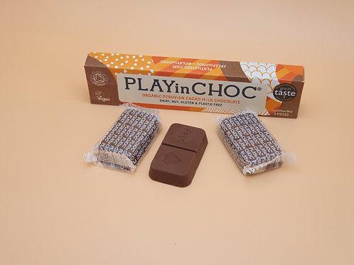 Vegan M.lk Chocolate, 30g - Peruvian Cacao Just Choc Box, PLAYin CHOC