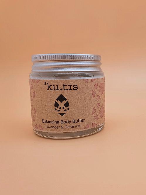 Balancing Lavender & Geranium Organic Body Butter, 30g -Kutis Skincare