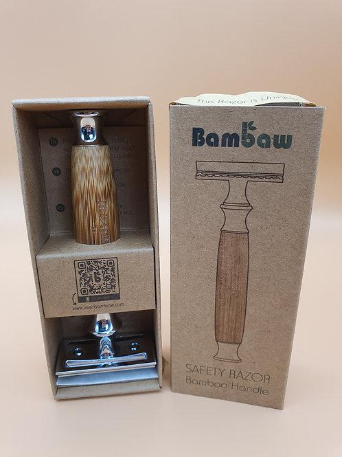 Double Edge Safety Razor, Bamboo & Stainless Steel - Bambaw