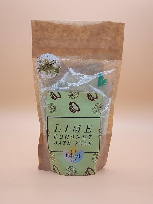 Lime Coconut Bath Soak, 225g -The Natural Spa