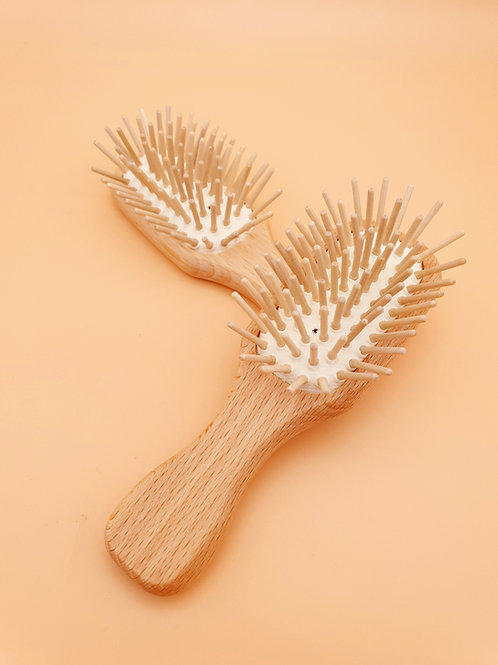 Mini Wooden Plastic-Free Hairbrush