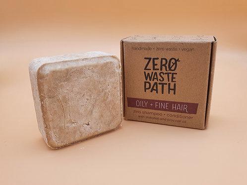 Oily & Fine Hair, 2-in-1 Shampoo & Conditioner 70g -Zero Waste Path